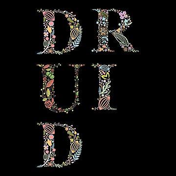 Tipografía Druid Flowers de pixeptional
