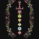 «Espada de juego de dados poliédricos florales» de pixeptional