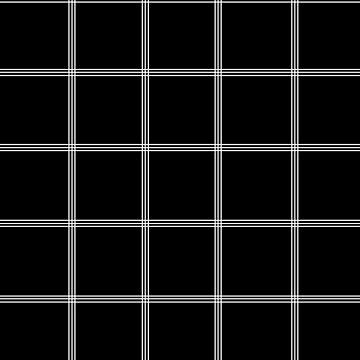 Minimal Black White Grid Glam #2 #line #decor #art  by anitabellajantz