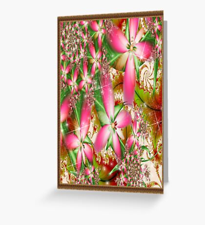 Pink Flowers of the Summer Greeting Card