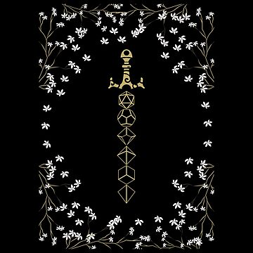 Espada de dados de mesa Boho floral dados de mesa de pixeptional
