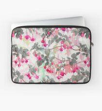Regenbogen-Fuchsien-Blumenmuster - mit Grau Laptoptasche