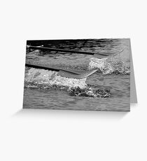 Rowing blade Greeting Card