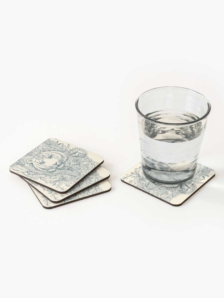 Alternate view of Tiger Tangle Coasters (Set of 4)