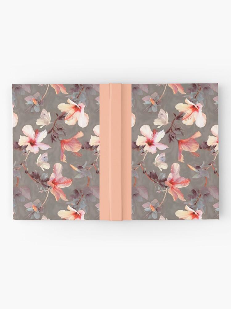 Vista alternativa de Cuaderno de tapa dura Hibisco coralino