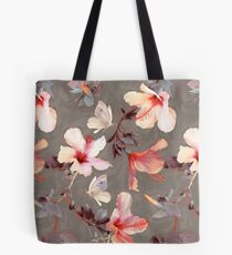 Bolsa de tela Hibisco coralino