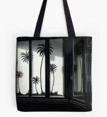 Paris, Black palm trees. Tote Bag