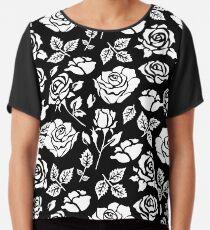 White Rose #illustration #pattern Chiffon Top