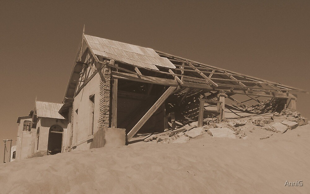 Waiting to be buried: Kolmanskop Ruin (Namibia Series) by AnniG