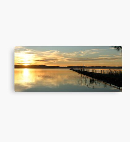 Sunset at Long Jetty Canvas Print