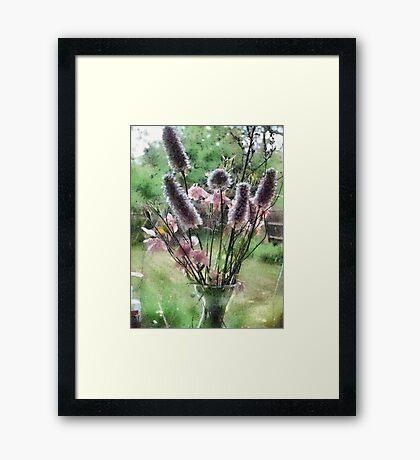 Flowers on the Windowsill Framed Print