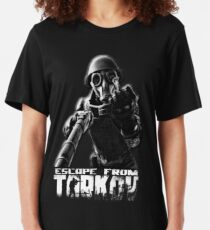 """Escape from Tarkov """"This is for you"""" Black Slim Fit T-Shirt"""