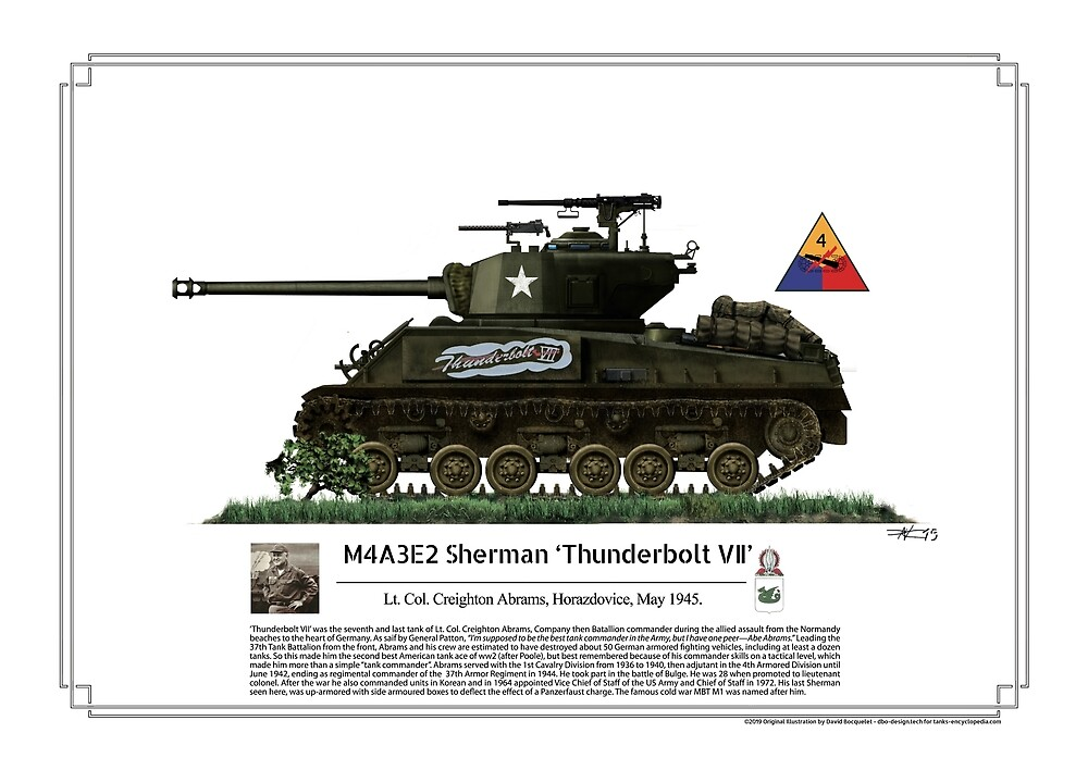 M4A3E2 Sherman 'Thunderbolt VII' by TheCollectioner