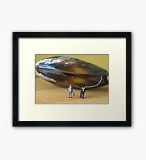 When Sandy asked, 'What's with the limp?' Sheldon said 'Its nothing really, I just pulled a muscle' Framed Print