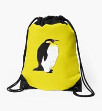 Emperor penguin illustration Drawstring Bag