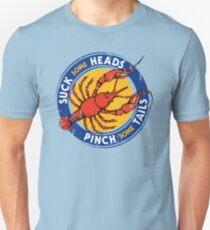 Suck Heads Pinch Tails - Distressed Unisex T-Shirt