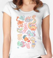 Chinese Animals of the Year Women's Fitted Scoop T-Shirt