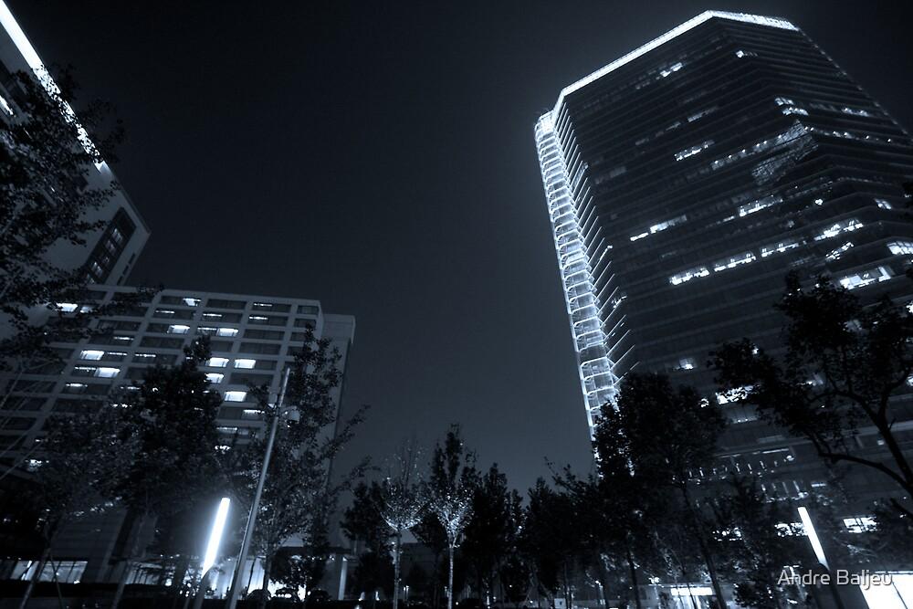b&w nights in beijing by Andre Baljeu