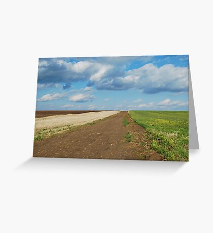 Of Wheat and Sky in Kansas Greeting Card