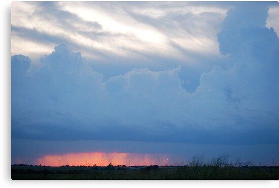 Stormy Kansas Sunset Sky  by Suz Garten
