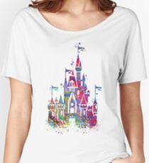 Princess Castle Watercolor Women's Relaxed Fit T-Shirt