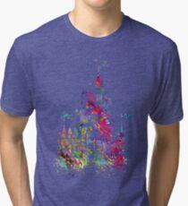 Princess Castle Watercolor Tri-blend T-Shirt