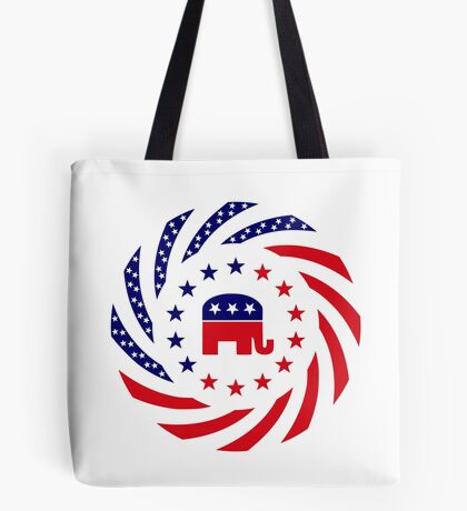 Republican Murican Patriot Flag Series Tote Bag