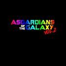 bunte ASGARDians des Parodie-T-Stücks der Galaxie Vol.2 von Corpsecutter