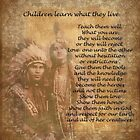 Children learn what they live Native american couple by Irisangel