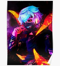 Neon bright Ghoul Poster