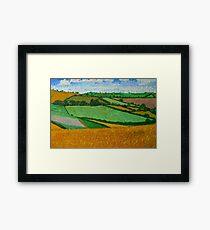 Rural Fields Framed Print