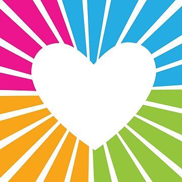 colourful heart by husavendaczek