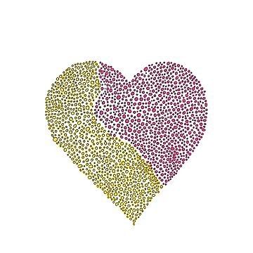 Pink & Yellow Heart by ElizabethGPDX