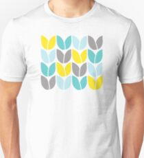 Tulip Knit (Aqua Gray Yellow) T-Shirt