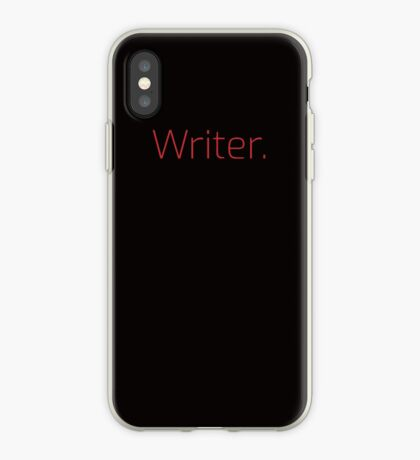 Copy of Writer. (Thin Red Text) iPhone Case