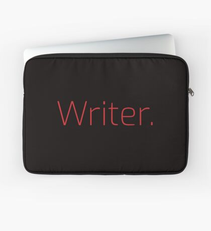 Copy of Writer. (Thin Red Text) Laptop Sleeve