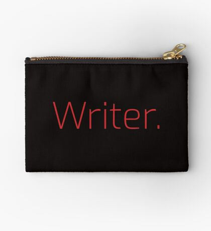 Copy of Writer. (Thin Red Text) Zipper Pouch