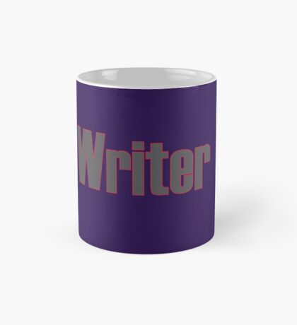 Writer -- Black Text with Red Outline Mug