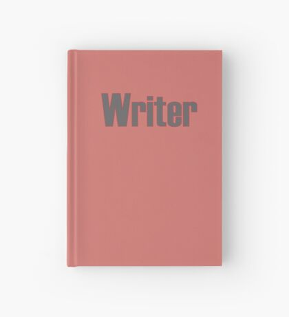 Writer -- Black Text with Red Outline Hardcover Journal