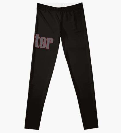 Writer -- Black Text with Red Outline Leggings