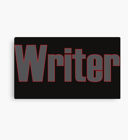 Writer -- Black Text with Red Outline Canvas Print