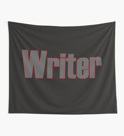 Writer -- Black Text with Red Outline Wall Tapestry