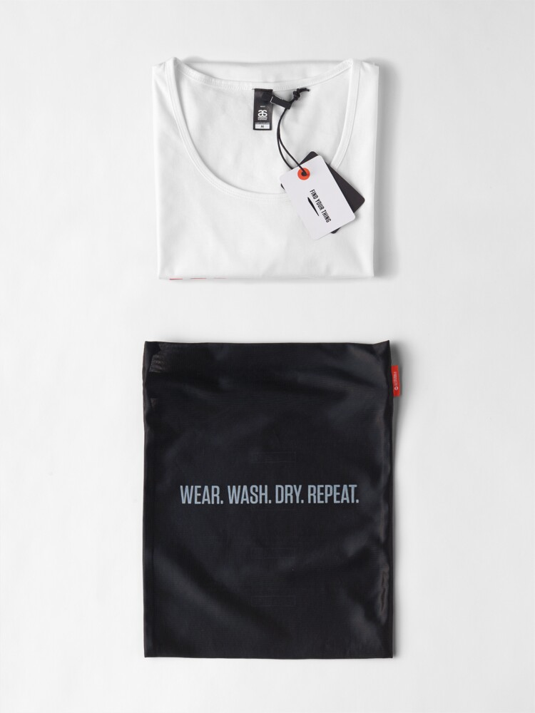 Alternate view of Writer -- Black Text with Red Outline Premium Scoop T-Shirt