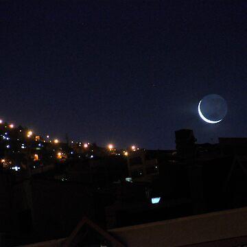 Luna sobre La Paz by sergiocolour