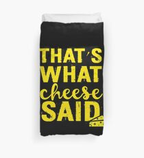 Funny Cheese Pun Product   That's What She Said  Gift For Food Lover Bettbezug