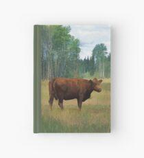 Brown-Kuh auf einer Pferde-und Rinder-Ranch Notizbuch