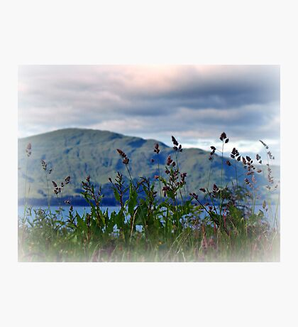 Mountain view over Loch Linnhe,Scotland. Photographic Print