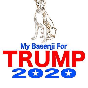 My Basenji for Trump by MichaelRellov