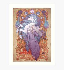 Lady Amalthea - Das letzte Einhorn Kunstdruck