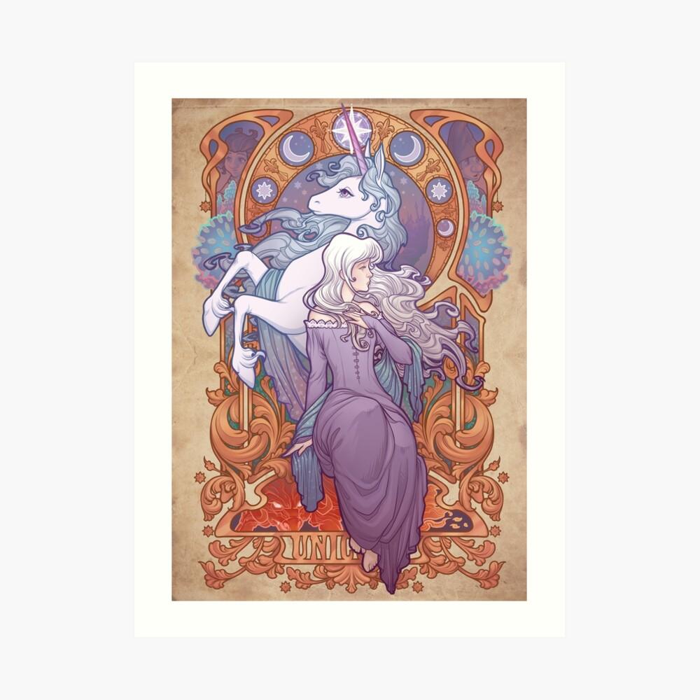 Lady Amalthea - The Last Unicorn Art Print